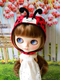 blythe Doll ladybug helmet by AltheasDollHouse on Etsy, $34.90