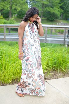 Maxi Dress, Spring Outfit Idea, Sweenee Style
