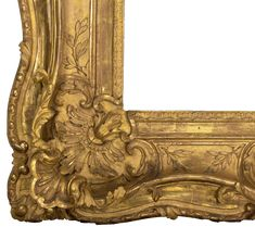 Louis XV frame (detail), about 1770, Jean Chérin, carved and gilded oak. The J. Paul Getty Museum