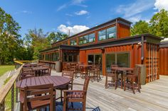 Deck and Front - Smoky Park Supper Club   Form & Function Architecture   Asheville Repurposed Shipping Containers   Keli Keach Photography   Asheville, NC