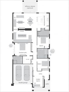 Infinity One narrow block home floor plan