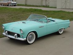 1955 FORD THUNDERBIRD CONVERTIBLE. On day I WILL have a thunderbird convertible