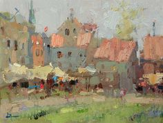 Urban Landscape, Abstract Landscape, Landscape Paintings, Abstract Art, Landscapes, Impressionist Landscape, Impressionist Paintings, Russian Painting, Guache