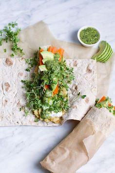 @saltandwind Reset Healthy Recipe: Split Pea Veggie Wrap with Cilantro-Mint Chutney   http://saltandwind.com