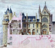 Château de Pierrefonds----restored by Eugène Viollet-le-Duc (1814-1879)  in 1857