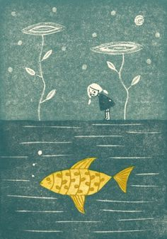 -she longed to swim with the fishes of the sea... credit to Miho Ikeda.