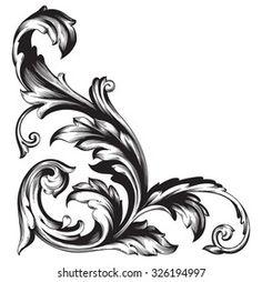 Baroque Frame, Motif Baroque, Baroque Pattern, Osiris Tattoo, Full Hand Tattoo, Saree Painting Designs, Filigree Tattoo, Flower Art Images, Eye Illustration