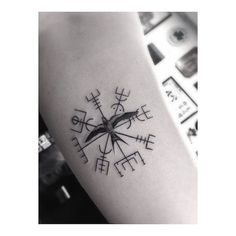viking compass by Dr.Woo | tattoo artist Los Angels