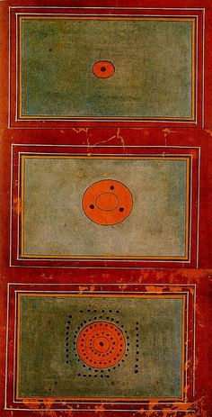 Evolution of the Cosmos from a single point (Bindu). 18th century Tantric painting , India
