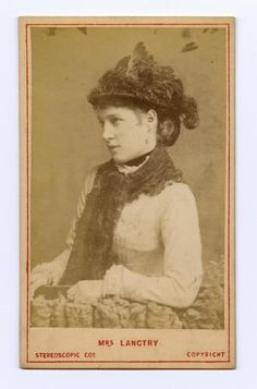Carte-de-visite depicting Lillie Langtry, actress, by The London Stereoscopic & Photographic Company, London