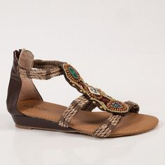 #Sandals with an earthy, #bohemian style.