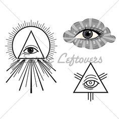 The Eye Of Providence   Symbols. Vector Illustr...