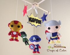 Baby Mobile - Baby Crib Mobile - Super Hero Mobile - Nursery Super Heroes Mobile (You Pick The Super Heroes of your choice) par dropsofcolorshop sur Etsy https://www.etsy.com/fr/listing/162288066/baby-mobile-baby-crib-mobile-super-hero