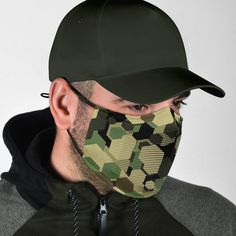 All of our Face Masks are custom-made-to-order and handcrafted to the highest quality standards. Add style and personality to your wardrobe with a custom printed face mask! Constructed from a super soft polyester blend that is comfortable and won't irritate your skin. Features adjustable ear loop buckles and an optio Diy Mask, Diy Face Mask, Face Masks, Mens Face Mask, Nose Mask, Army Men, Face Shapes, Hats For Men, Ear Loop