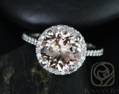 Federella 10x8mm 14kt Rose Gold Thin Oval Morganite by RosadosBox