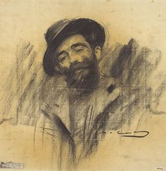 Ramón Casas (1866 - 1932). Portrait of Eliseu Meifrèn.  Museu Nacional d'Art de Catalunya, Barcelona.