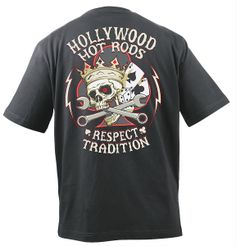 Hollywood Hot Rods Respect Tradition T-Shirt - Free Shipping on Orders Over $99 at Genuine Hotrod Hardware