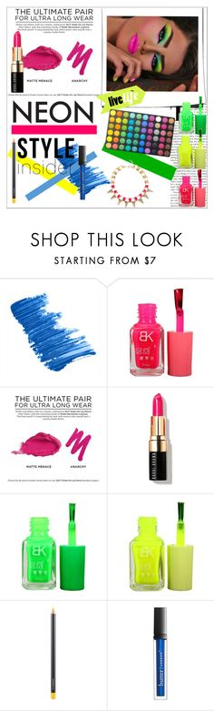 """Crazy Party"" by polivoreuser835 on Polyvore featuring Belleza, Butter London, Urban Decay, Bobbi Brown Cosmetics, MAC Cosmetics, BHCosmetics, neon, party, Night y neonbeauty"