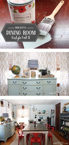 dining room makeover with Robb Restyle... #DIY #Paint #makeover #homedecor