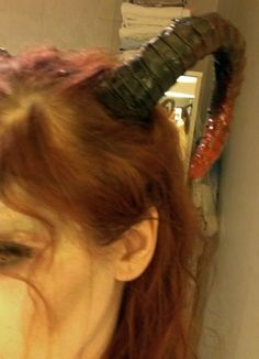 How to make Demon horns - Always did have ideas to do a fallen angel costume, now I know how to make the horns.