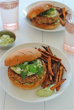 Or as my soul beggeth, Chickeeeenwa burgers. And while we're at it, don't look too closely at my sweet potato fries. It's hard to tell with the naked eye, but underneath all that Parenthood-(ahem)-induced, semi-burned crispy exterior, lie the soft, seasoned sweet potato fibers of Zion. But you don't rightly care because you want to …