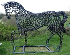 Wow, made of horse shoes, this took some time...Beautiful