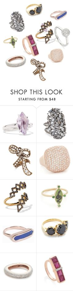 """""""Fashion Rings..**"""" by yagna ❤ liked on Polyvore featuring Alexis Bittar, Theia Jewelry, Marc Jacobs, Bronzallure, Noir Jewelry, Holly Dyment, Monica Vinader, Jacquie Aiche, MAHA LOZI and vintage"""
