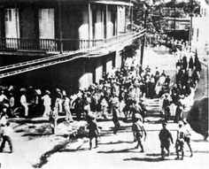 Ponce Massacre, 1937. US forces fire upon an unarmed crowd in Puerto Rico calling for independence. Numerous casualties & injuries among the crowd of men & women, many of them university students.