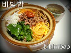 bibimbap dinner at home