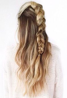 half braid + half down