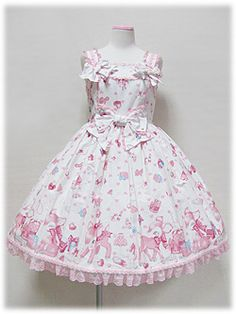 Angelic Pretty / Jumper Skirt / Milky-chan of the Fawn Ribbon JSK