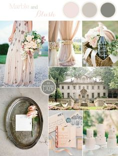Elegant Country Manor Inspiration in Marble and Blush | See More! http://heyweddinglady.com/elegant-country-manor-wedding-inspiration-in-marble-and-blush/