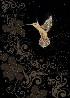BugArt Jewels ~ Gold Hummingbird. JEWELS Designed by Jane Crowther.