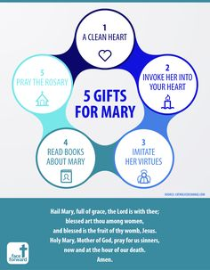 Catholic Infographic | 5 Gifts for Mary | Mother of God | Rosary