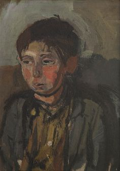 Boy with the Apple Cheeks - Joan Eardley 2013 Painting Collage, Figure Painting, Painting & Drawing, Abstract City, Glasgow School Of Art, Art Society, Popular Artists, Modern Art Paintings, A Level Art