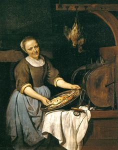 "Gabriel Metsu ""The Cook""."