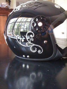oooh ~ Bling for my helmet!! :) @Teresa Schoonderwoerd tell frog about this!!!