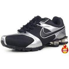 http://www.asneakers4u.com/ Mens Nike Shox R4 Black Silver