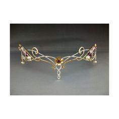 Lorien crown tiara headpiece sterling bridal wedding celtic fantasy... ($305) ❤ liked on Polyvore