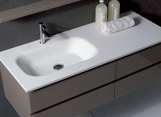 Laccato tortora brillante con Lavabo in Cristplant. Euro Bagno arredobagno e Mobili da bagno bathroom furniture since 1973.