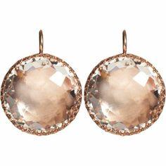 nude crystal earrings