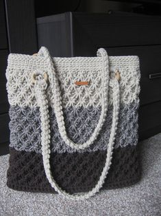 Kabelka háčkovaná šňůrová béžovohnědá / Zboží prodejce sonseb | Fler.cz Db Ag, Crochet Baby Sandals, Crochet Bags, Tote Bag, Crossbody Bag, Couture, Diaper Bag, Free Pattern, Crochet Patterns