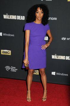 sonequa martin-green | Sonequa Martin-Green at the Walking Dead Season 4 Premiere in ...