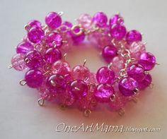 Popping Pink bracelet.  Potomac Bead Company, Medina Ohio