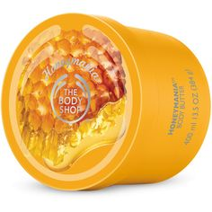 Jumbo Honeymania Body Butter | The Body Shop ® (200 RON) ❤ liked on Polyvore featuring beauty products, bath & body products, body moisturizers, the body shop and body moisturizer