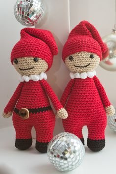 crochet amigurumi toy, christmas elf.