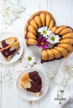 Marbled Red Velvet Bundt Cake