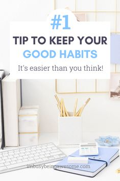 Are you trying to start a good habit? Do you want to have a consistent routine or to stick with your New Year's resolutions? Learn the best strategy to see progress on your goals, increase your productivity, and finally check things off your daily to-do l Good Habits, Healthy Habits, Life Goals List, Habits Of Successful People, Time Management Skills, Self Care Activities, Work Life Balance, Stay Focused, Willpower
