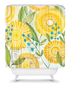I don't think I could spend $60 on a shower curtain, but I love how bright and fun this is!