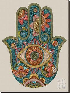 Hamsa Stretched Canvas Print